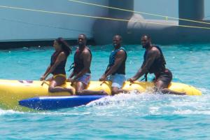 Banana Boat Action In Zanzibar
